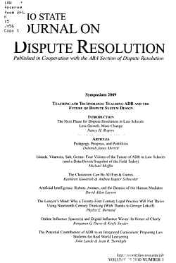 Ohio State Journal on Dispute Resolution PDF