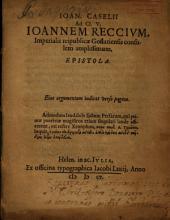 Ad Ioannem Reccium Epistola