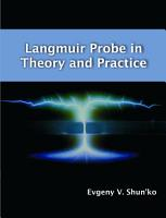 Langmuir Probe in Theory and Practice PDF