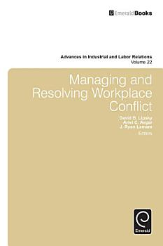 Managing and Resolving Workplace Conflict PDF