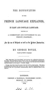 The difficulties of the French language explained