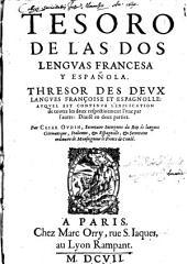 Tesoro de las dos Lenguas espanola y Francesa: Volume1