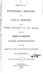 Annual Reports of Officers, Boards, and Institutions of the Commonwealth of Virginia, for the Year Ending September 30 ...