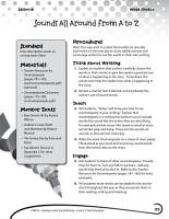 Writing Lesson Level 2  Sounds All Around from A to Z PDF