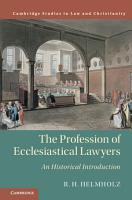 The Profession of Ecclesiastical Lawyers PDF