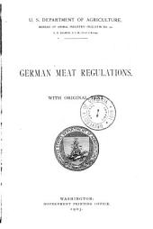 German Meat Regulations: With Original Text