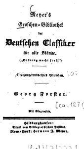 Georg Forster: Mit Biogr