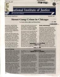 Street Gang Crime in Chicago PDF