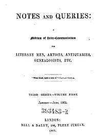 Notes and Queries  A Medium of Inter Communication for Literary Men  Artists  Antiquaries  Genealogists  Etc PDF