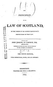 Erskine's Principles of the Law of Scotland
