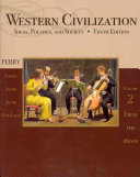 Western Civilization  Ideas  Politics  and Society  Volume II  From 1600 PDF