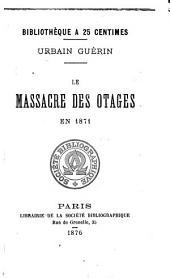 Le massacre des otages en 1871