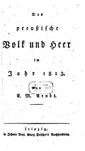Das preußische Volk und Heer im Jahr 1813