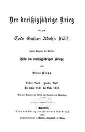 Der dreissigjährige krieg bis zum tode Gustav Adolf 1632: Band 3,Teil 2