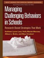 Managing Challenging Behaviors in Schools PDF