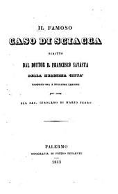 Il famoso caso di Sciacca scritto dal dottor D. Francesco Savasta della medesima città
