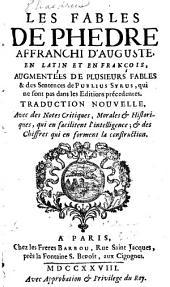 Les fables de Phedre, affranchi d'Auguste, an latin et en françois
