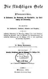 Die Flüchtigen Oele des Pflanzenreiches, ...: ein Handbuch für Fabrikanten, Apotheker, Chemiker und Drogistén ...