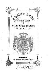 Almanacco della R. Corte e degli stati estensi