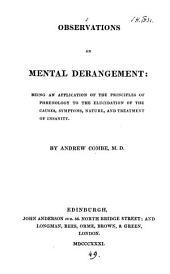 Observations on mental derangement
