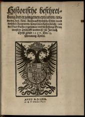 Historische Beschreibung der exekution wider des H. R. Reichs auffrürische Echter
