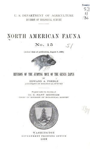 Revision of the Jumping Mice of the Genus Zapus