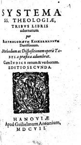 Systema SS  Theologiae  Tribus Libris adornatum PDF