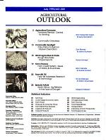 Agricultural Outlook