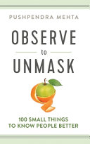 Download OBSERVE to UNMASK Book