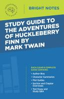 Study Guide to The Adventures of Huckleberry Finn by Mark Twain PDF