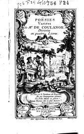 Poësies variêes de mr. de Coulange: Divisées en quatre livres