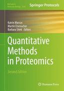 Quantitative Methods in Proteomics PDF