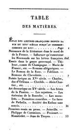 Résumé de l'histoire de la litterature Française: depuis son origine jusqu'à nos jours