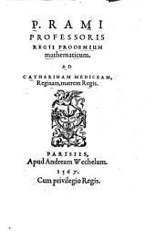 P. Rami Professoris Regii Prooemium mathematicum