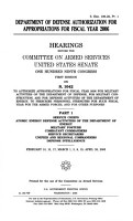 Department of Defense Authorization for Appropriations for Fiscal Year 2006 PDF