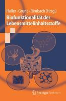 Biofunktionalit  t der Lebensmittelinhaltsstoffe PDF