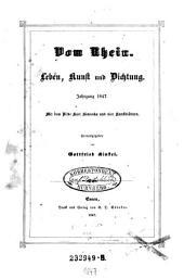Vom Rhein. Leben, Kunst und Dichtung. Mit dem Bilde Karl Simrocks und 4 Kunstblättern. Hrsg. von Gottfried Kinkel