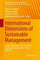 International Dimensions of Sustainable Management PDF