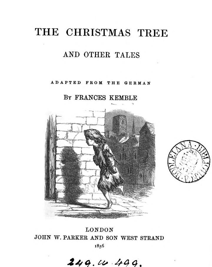 The Christmas tree, and other tales, adapted from the Germ. [of J.C. von Schmid].