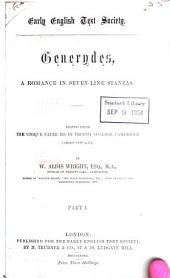 Generydes: a romance in seven-line stanzas, Issue 55