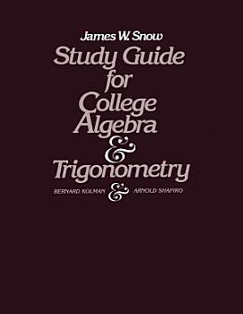 Study Guide for College Algebra and Trigonometry PDF