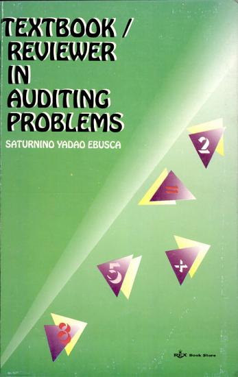 Textbook reviewer in Auditing Problems PDF