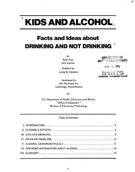 Kids and alcohol PDF