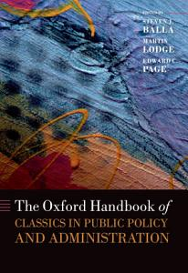 The Oxford Handbook of Classics in Public Policy and Administration PDF