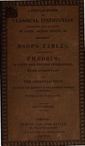 Æsop's Fables, as Romanized by Phædrus