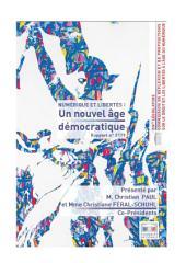 Rapport d'information sur le droit et les libertés à l'âge du numérique