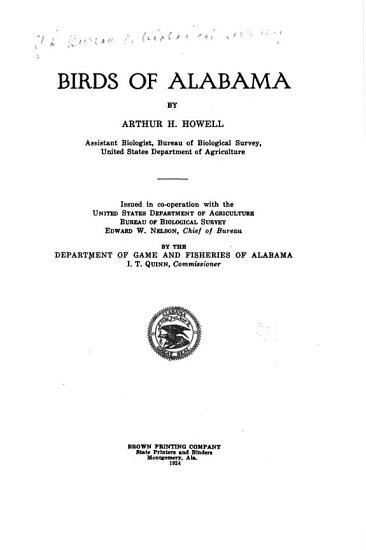 Birds of Alabama PDF