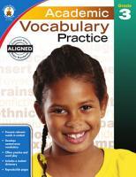 Academic Vocabulary Practice  Grade 3 PDF