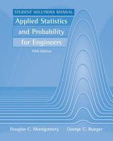 Applied Statistics and Probability for Engineers  Student Solutions Manual PDF