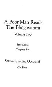 A Poor Man Reads the Bhagavatam V.2